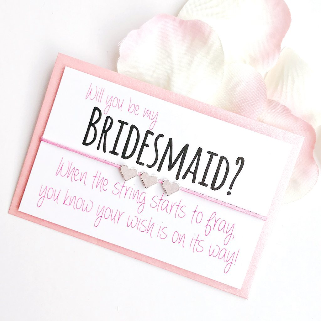 LIGHT PINK Will You Be My Bridesmaid Wish Bracelet