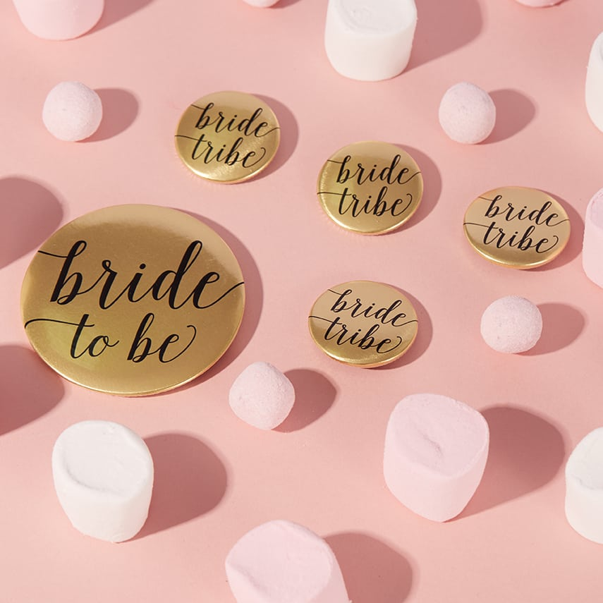 Metallic Hen Party Bride Tribe Badges