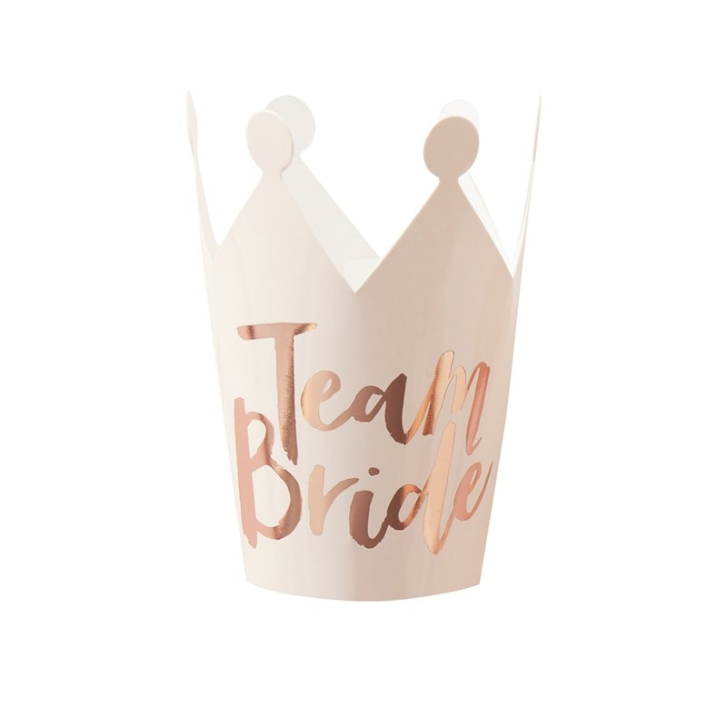 team bride mini party crown