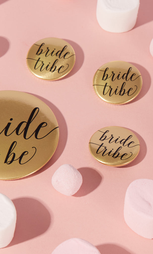 Metallic Bride Tribe Hen Party Badges - SALE