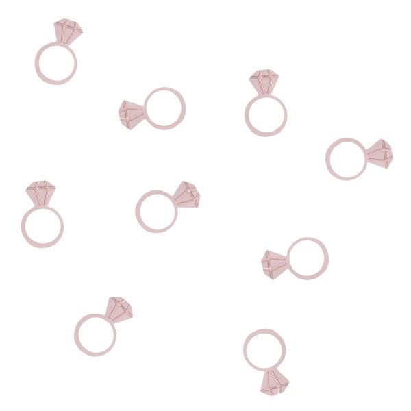 Rose Gold Diamond Ring Confetti | Hen Party Decorations - Team Hen