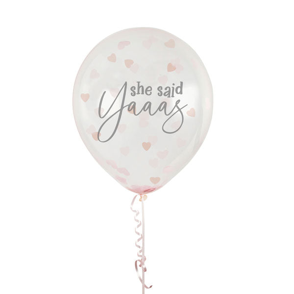 She Said Yaaas Confetti Balloons | Hen Party Balloons - Team Hen