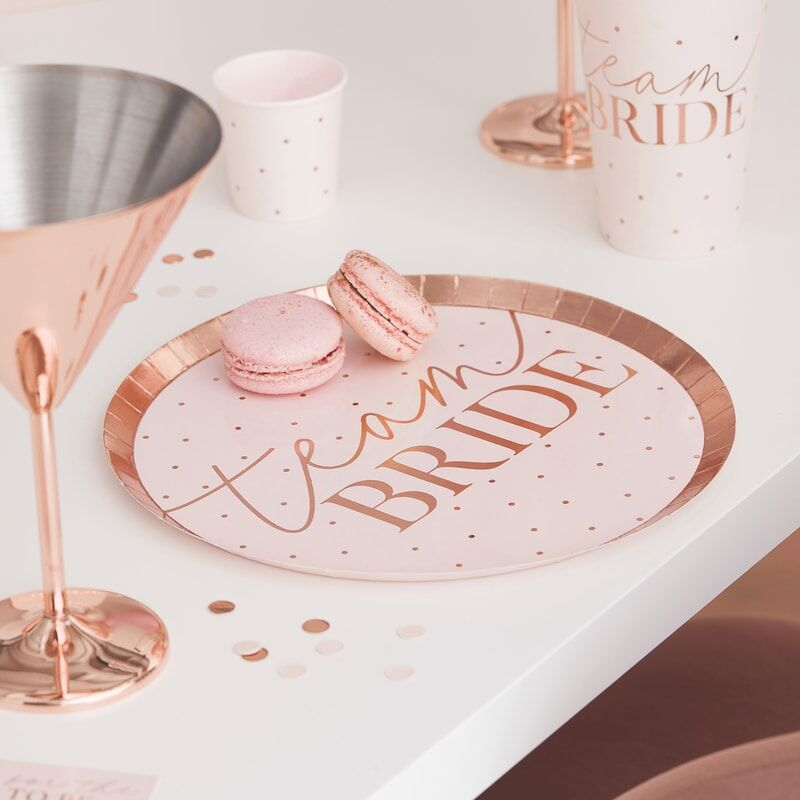 Blush Team Bride Hen Party Plate
