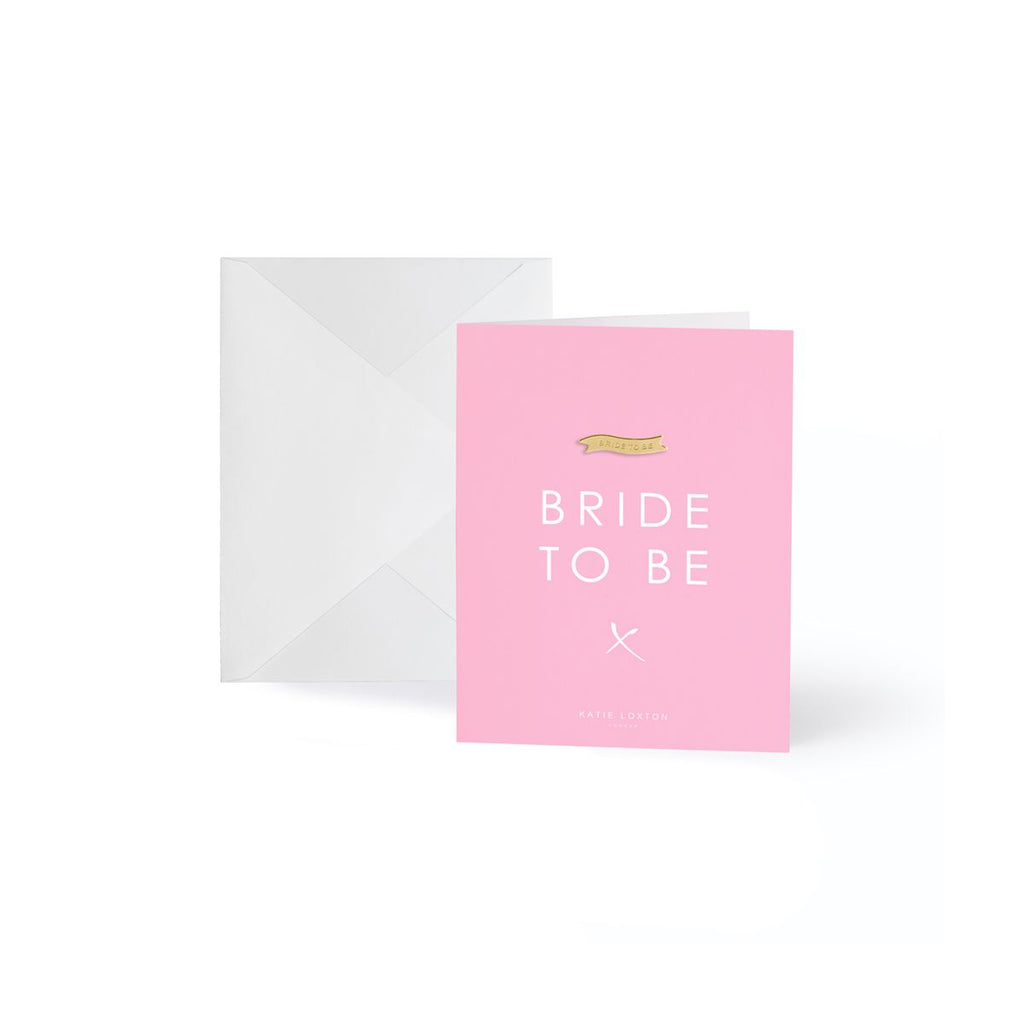 Bride to Be Gold Lapel Pin Card