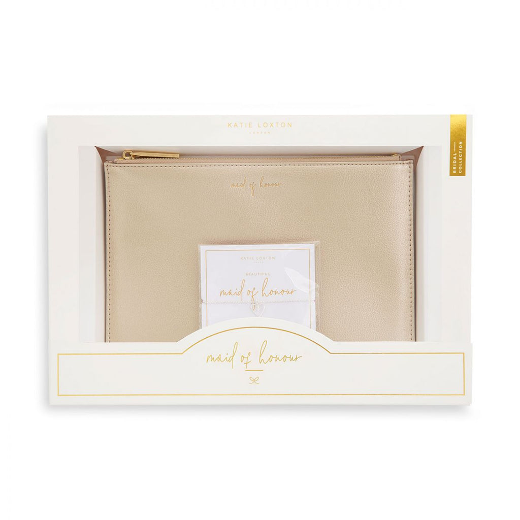 Maid of Honour Pouch & Bracelet Gift Set | Katie Loxton Maid of Honour Gift Set
