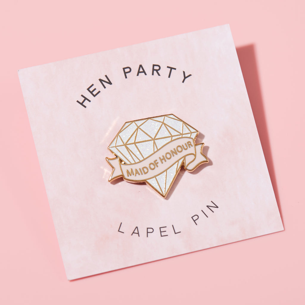 Maid of Honour Diamond Lapel Pin