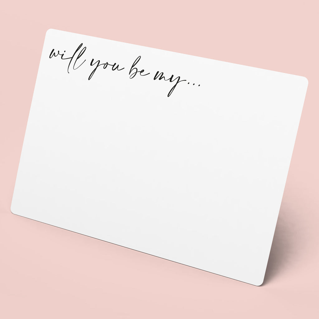 'Will You Be My' Notecard | Bridesmaid Proposals - Team Hen