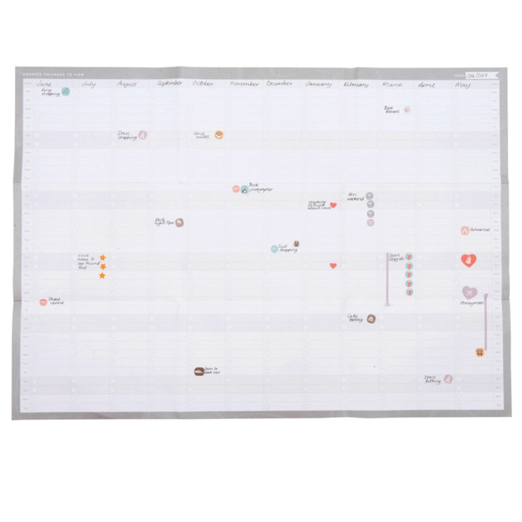 Wedding Wall Planner | Bride Gifts - Team Hen