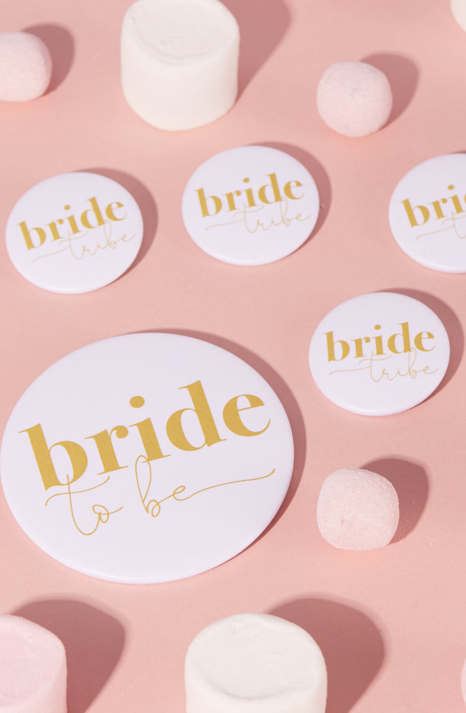 Gold Hen Party Bride Tribe Badges