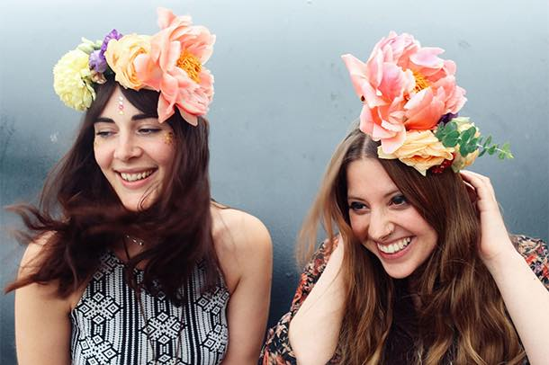 Fresh Flower Crown Hen Party Workshop