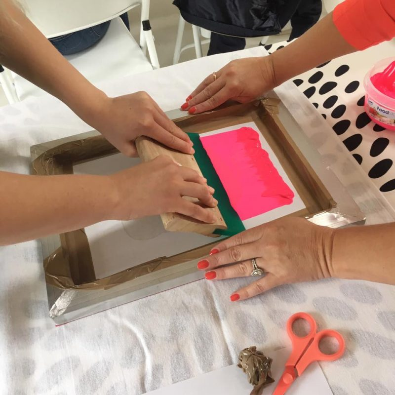 Screen Printing Hen Party Workshop