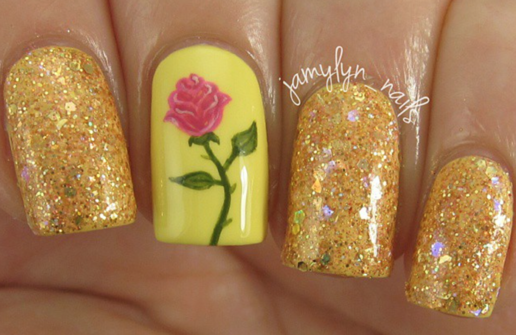Beauty & The Beast Nail Art