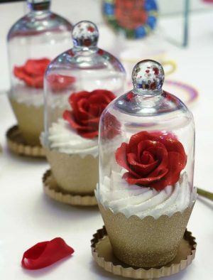 Enchanted Rose Cupcakes