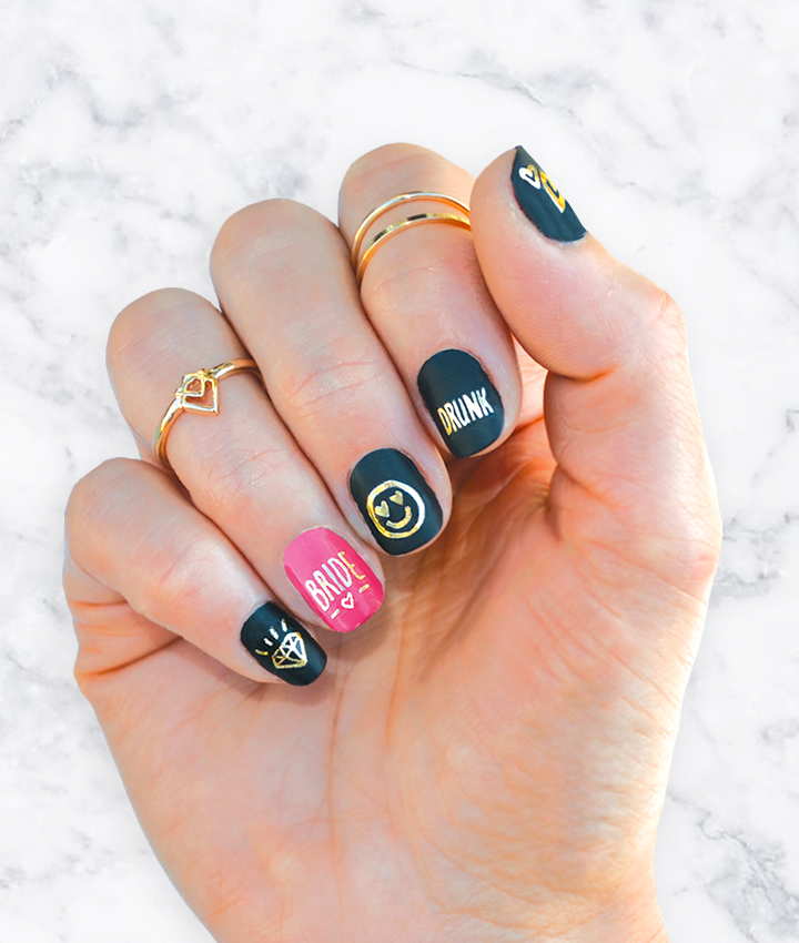 nail art trend - team hen