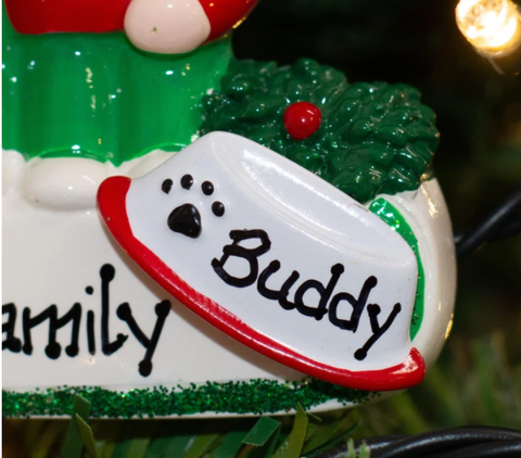Personalised Pet Add-On Christmas Ornament | Personalised Christmas Decorations for Pets | WowWee.ie