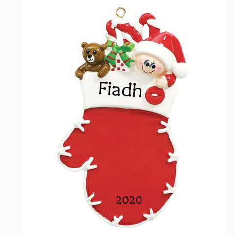 Personalised Baby's First Christmas Ornament | Personalised Baby Christmas Keepsakes | WowWee.ie