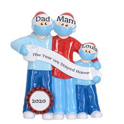Personalised Covid-19 Christmas Ornament | Personalised Pandemic Christmas Gifts | WowWee.ie