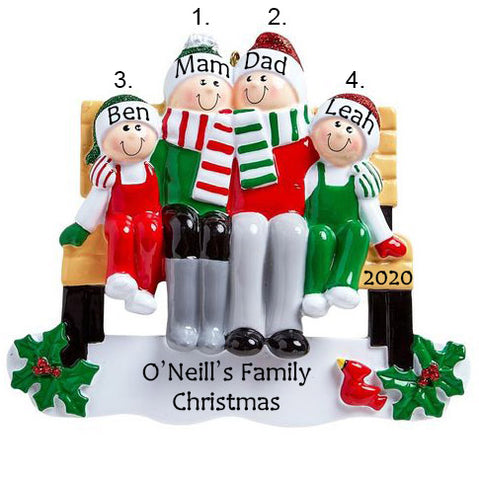 Personalised Christmas Ornaments 2020 New | Personalised Family Christmas Ornament | WowWee.ie