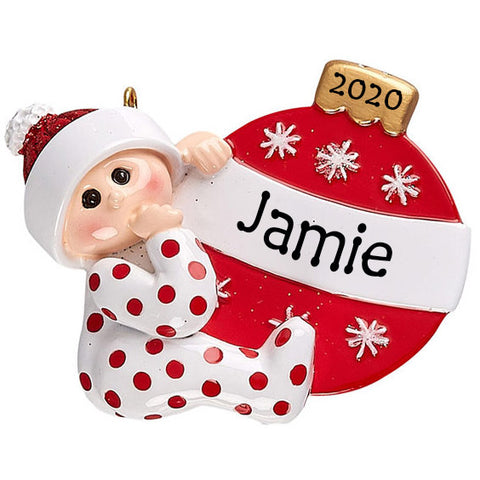 Personalised Christmas Decoration for Baby's First Christmas | Personalised Christmas Keepsakes for Baby | WowWee.ie