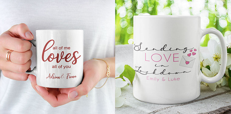 Personalised Valentine's Day Mugs | Personalised Valentine's Day Gifts 2021 | Personalised Valentine's Ideas for Lockdown | Personalised Covid Valentine's Day | WowWee.ie