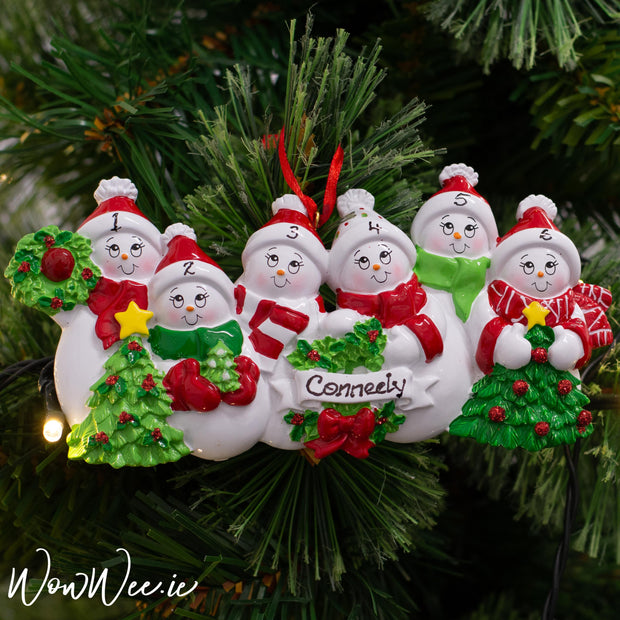 Personalised Christmas Ornaments - Snow Family 6
