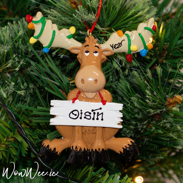 Personalised Christmas Ornament - Christmas Moose
