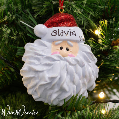 Personalised Christmas Ornament - Santa Face DUE BACK IN STOCK 11TH SEPT 2019