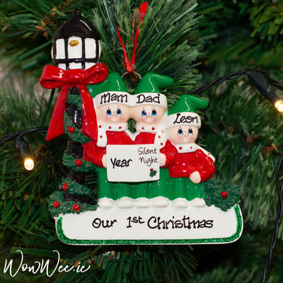 Personalised Christmas Ornament - Caroler Family 3