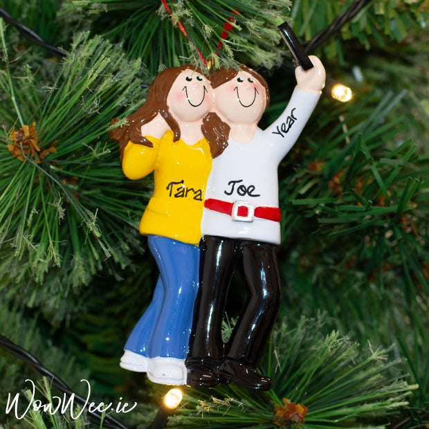 Personalised Christmas Ornament - Selfie Friends