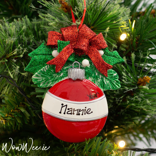 Personalised Christmas Tree Decoration beautifully customised by our artists specially for you to enjoy each and every Christmas.