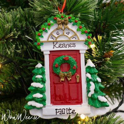 Personalised Christmas Ornament - Red Door DUE BACK IN STOCK 11TH SEPT 2019
