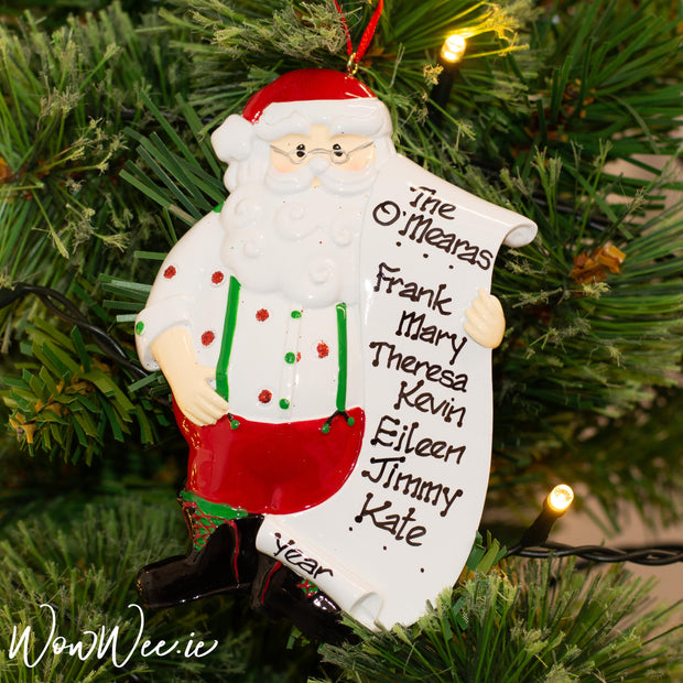 Personalised Christmas Ornaments - Santa's List