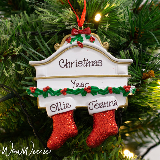 Personalised Christmas Ornament - Mantle 2