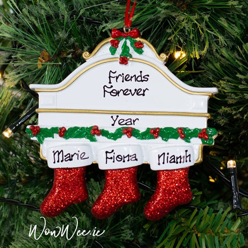 Personalised Christmas Ornament - Mantle 3