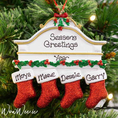 Personalised Christmas Ornament - Mantle 4