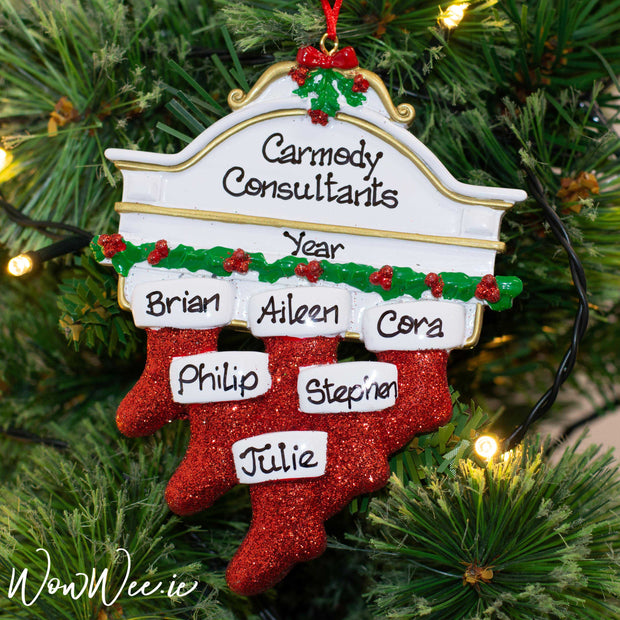 Personalised Christmas Ornaments - Mantle 6