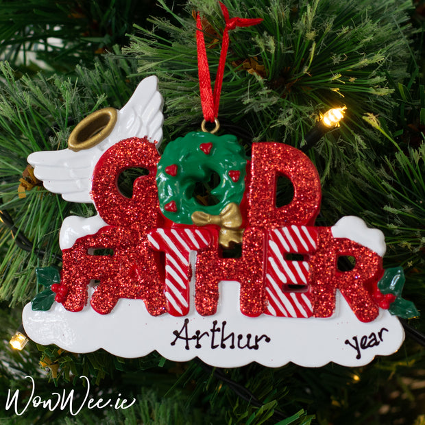 Looking for the prefect gift to give to your special Godfather this Christmas? This Personalised Christmas Tree Decoration is ideal for Goddaughters and Godsons to order this year.