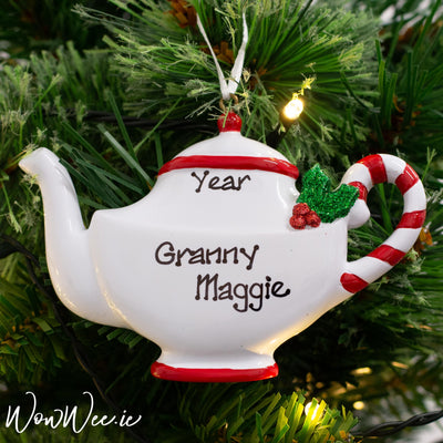 Personalised Christmas Ornament - Christmas Teapot