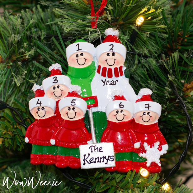 Personalised Christmas Ornaments - Snow Shovel Family 7