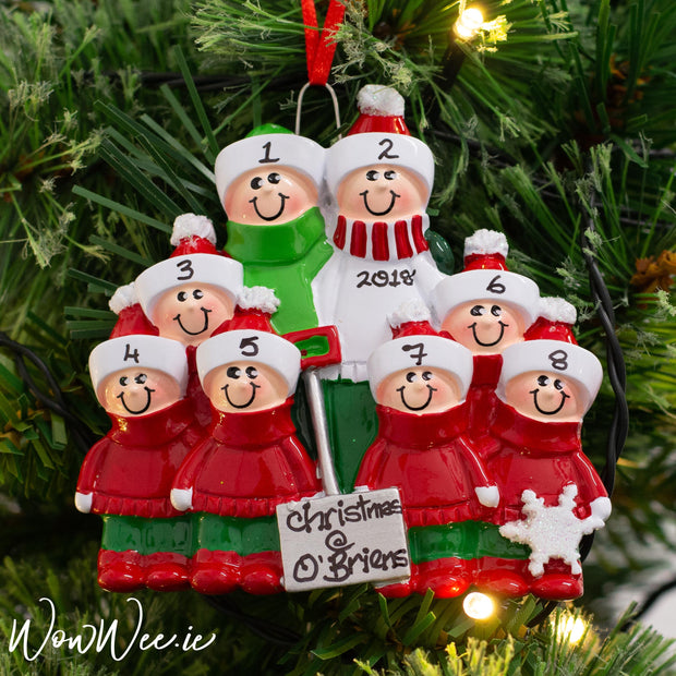 Personalised Christmas Ornaments - Snow Shovel Family 8