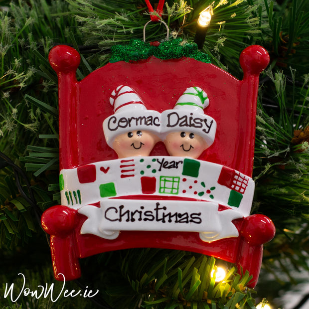 Personalised Christmas Ornaments Ireland | Personalised Christmas Ornament for Couples | Personalised Christmas Ornaments for 2 People | Personalised Christmas Tree Decorations For Couples | WowWee.ie