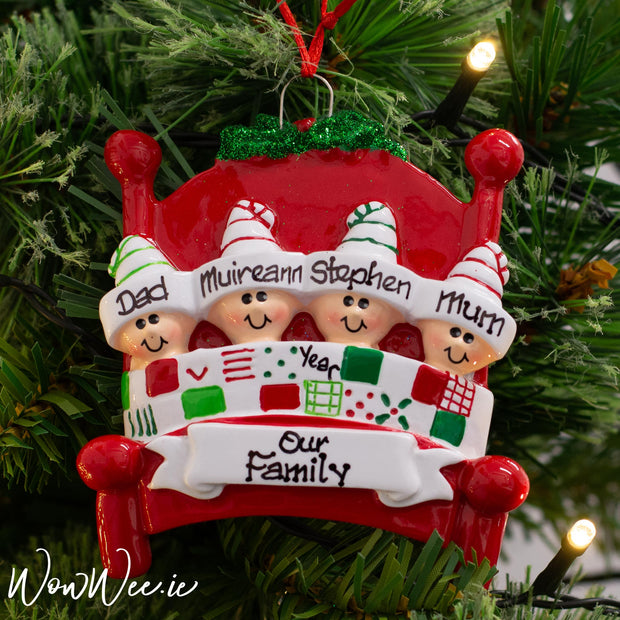 Personalised Christmas Ornament - Bed Heads 4