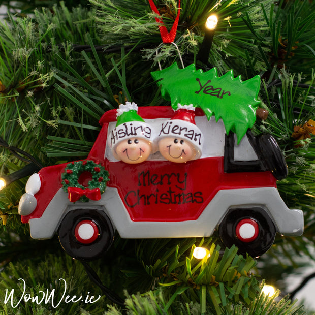 Personalised Christmas Ornaments | Personalised Christmas Ornaments for Couples | Personalised Christmas Decorations | Personalised Christmas Ornaments Ireland | WowWee.ie