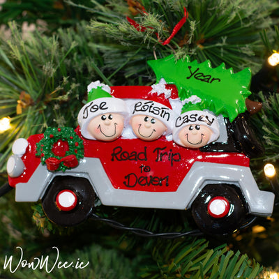 Personalised Christmas Ornament - Christmas Tree Caravan 3