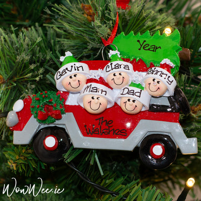 Personalised Christmas Ornament - Christmas Tree Caravan 5