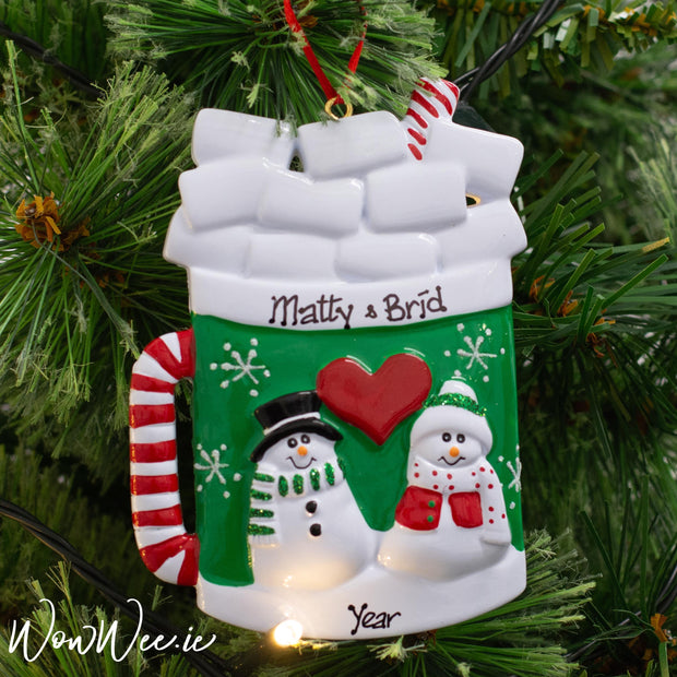 Personalised Christmas Ornament - Christmas Mug | Personalised Christmas Decorations | Personalised Christmas Tree Decoration | Personalised Christmas Ornaments Ireland | WowWee.ie