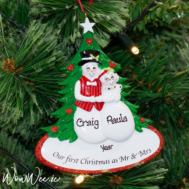 Personalised Christmas Ornaments - Our 1st as Mr & Mrs - WowWee.ie Personalised Gifts