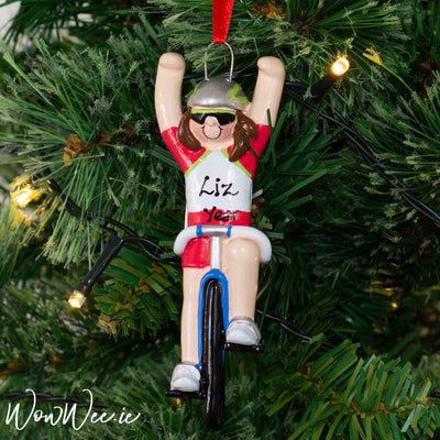 Personalised Christmas Ornament - Bicycle Girl