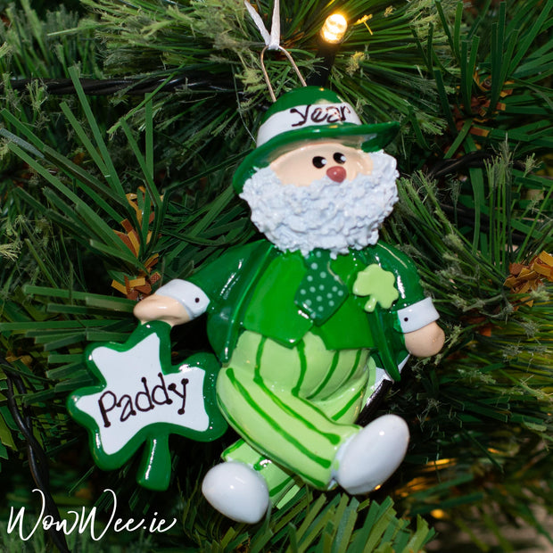 Send a little piece of Ireland to someone special this Christmas with this Personalised Irish Santa that can be hung on the Christmas Tree and enjoyed every year.