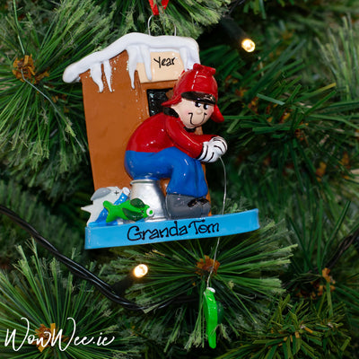 Personalised Christmas Ornament - Ice Fishing
